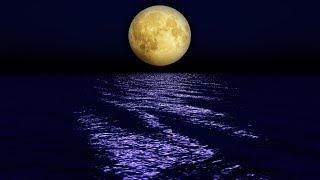 Усыпляющая музыка для сна, видео картина - лунный пейзаж