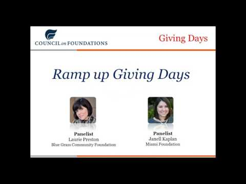 Giving Days: Ramp Up or Wind Down