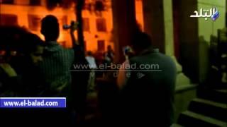 بالفيديو والصور.. ميرفت أمين وشهيرة ودلال عبد العزيز وفيفي عبده في عزاء مديحة سالم