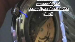 Analogové hodinky s viditelným hodinovým strojkem, zlaté by MAXIPRODEJ.CZ.mpg thumbnail