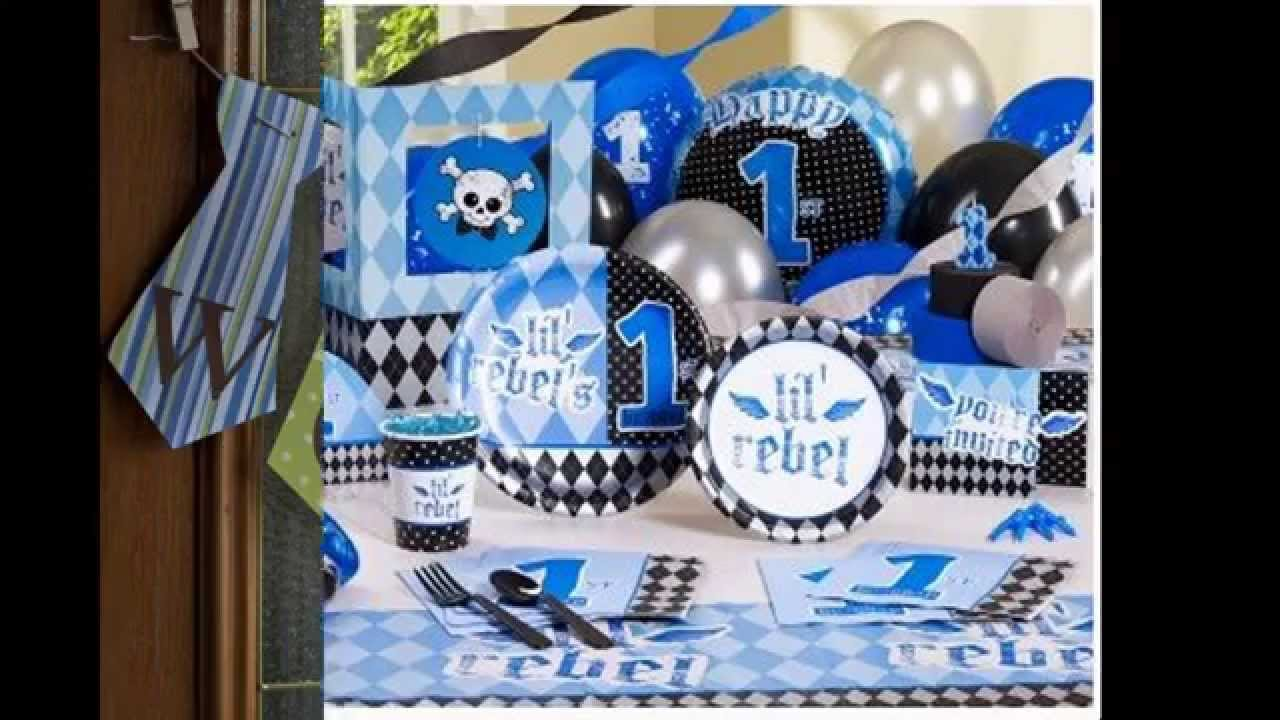 Simple Boys 1st Birthday Party Decoration Youtube