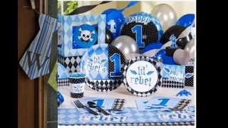 Simple Boys 1st birthday party decoration
