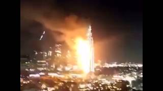 Fire Dubai Downtown Hotel Explosion live Video 2015
