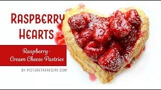 Raspberry Hearts - A Raspberry, Cream Cheese Dessert