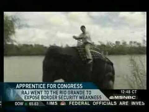 Rita Cosby Interviews Raj about Border Security.