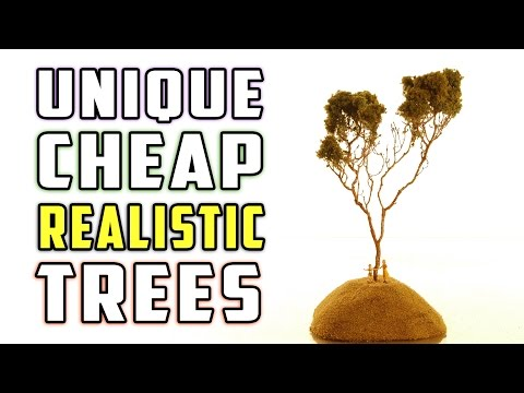 Realistic Cheap and Easy Trees for Your Model Railroad – How-To