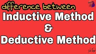 Inductive method & Deductive method