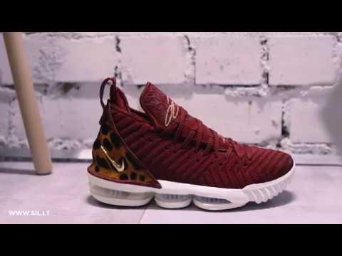 49b7cb0fb8c4 Nike Lebron XVI King - AO2588-601 - YouTube