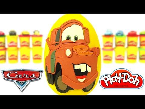 Huevo Sorpresa Gigante de Mate de Cars en Español de Plastilina Play Doh