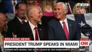 President Trump speaks in Miami, rolls back much of Obama's thaw towards Cuba