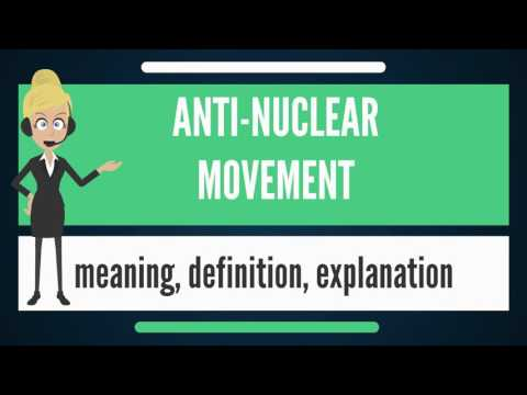 What is ANTI-NUCLEAR MOVEMENT? What does ANTI-NUCLEAR MOVEMENT mean?