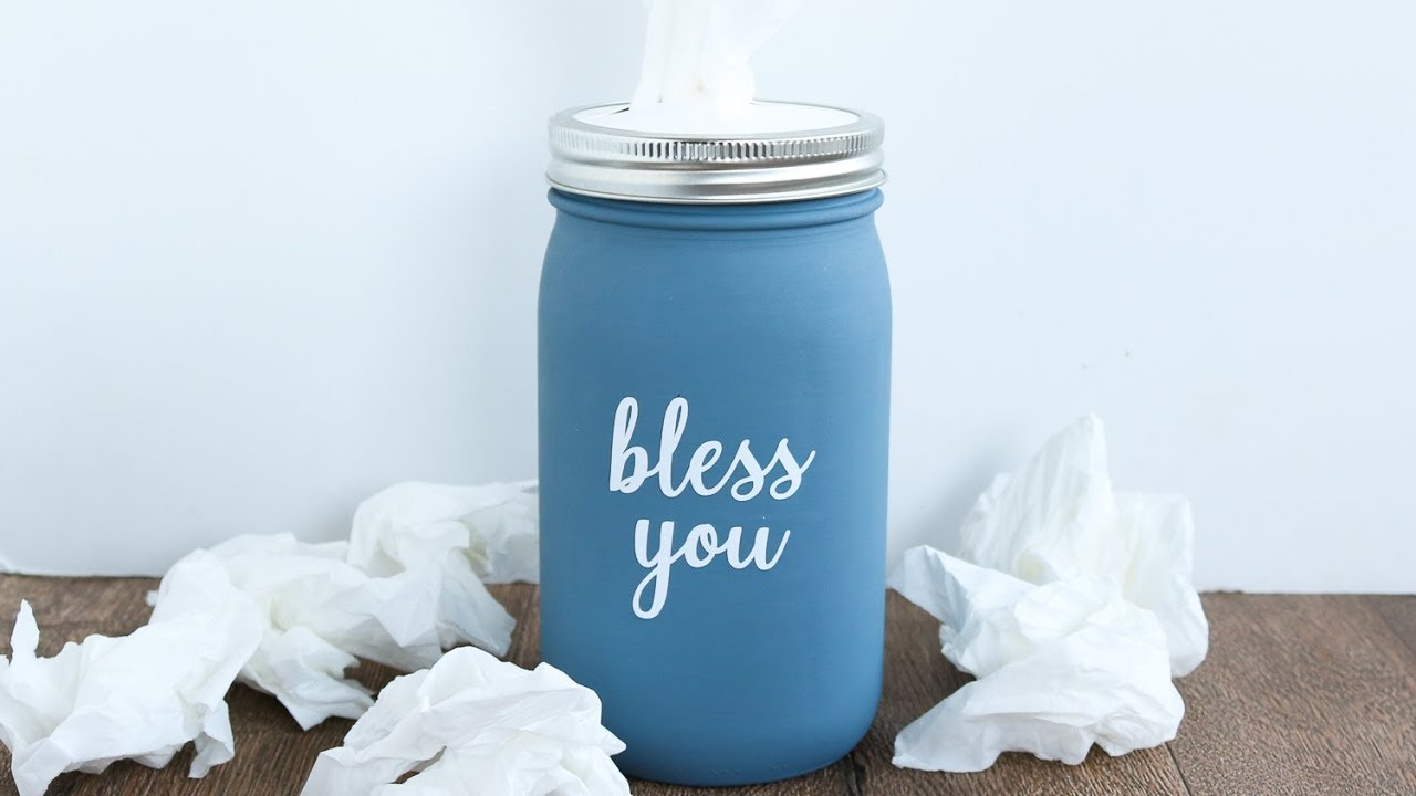 Mason Jar Tissue Holder Diy Tutorial