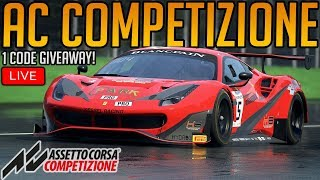 Assetto Corsa Competizione | Chase Cam Controller Noob Attemps Sim Racing | + 1 Code Giveaway!