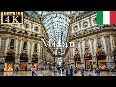 🇮🇹Milan Winter Walk - Galleria Vittorio Emanuele II - 【4K 60fps】