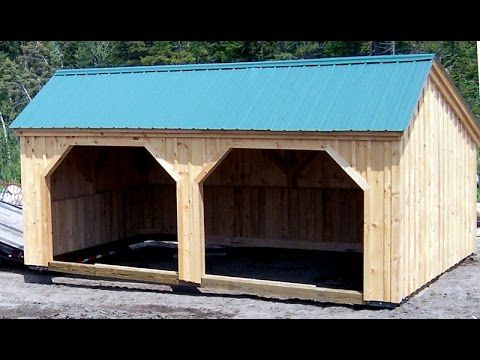horse shed loafing run  day shelter youtube