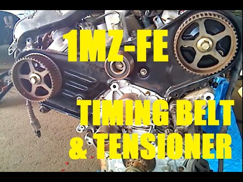timing belt and tensioner toyota v6 3 0 liter 1mz fe 3 3 liter 3mz rh youtube com