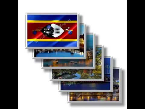 SZ - Travels in SWAZILAND - rectangular magnets and souvenirs