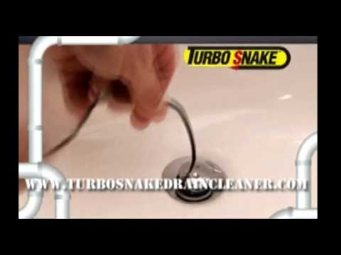 Unclogging Bathroom Sink Youtube turbo snake - how to unclog your bathroom sink? - as seen on tv