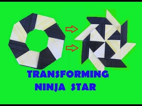 HOW TO make a Transforming Ninja Star - Origami - YouTube - photo#10