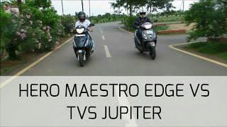(Long Term Detailed Comparison) of Hero Maestro Edge VS TVS Jupiter BS-4 2017.