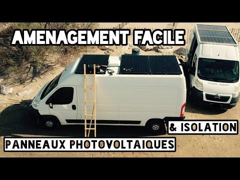Aménagement, électricité, isolation, panneaux solaires dans un fourgon / camion partie1
