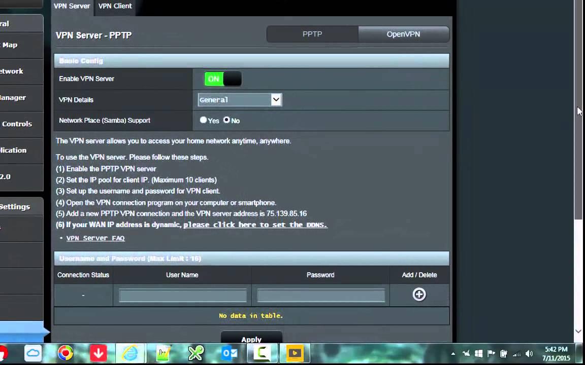 Asus Rt Ac66u Vpn Server Setup