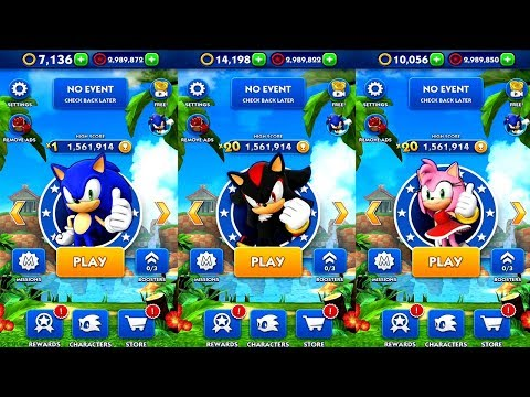 Sonic Dash SONIC VS SHADOW VS AMY Android IPad IOS Gameplay