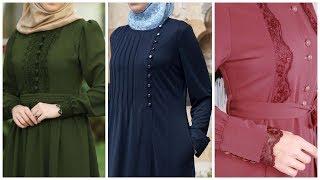 50 Stylish Hijab Ababa's Neck  Designs Collection 2019 Dubai Abaya Designs