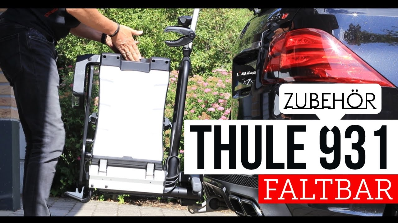 hands on thule 931 fold fahrradtr ger klappbar auch f r e bikes youtube. Black Bedroom Furniture Sets. Home Design Ideas