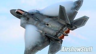 F-22 Raptor Afterburner Flybys - EAA AirVenture Oshkosh 2018