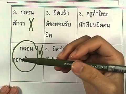ข้อสอบO-NET ป.6 ปี2552 : ภาษาไทย ข้อ23