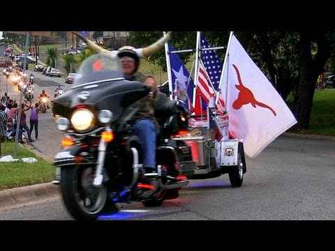 """"""" Worlds Longest Motorcycle Parade""""  ROT Rally 2013"""