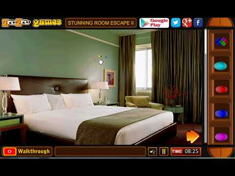 Stunning Room Escape II | zoozoogames walkthrough | escape games new