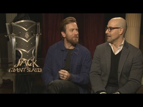 Jack The Giant Slayer: Funny Ewan McGregor and Stanley Tucci interview