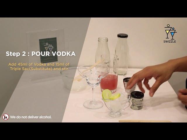 Cosmopolitan in 3 easy steps using Swizzle Cocktail Kit   Swizzle   Whiskey Cocktail
