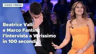 Beatrice Valli E Marco Fantini: L'intervista A Verissimo In 100 Secondi