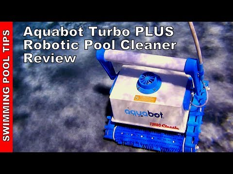 Aquabot Turbo Plus Robotic Pool cleaner: Filters Down to 2 Microns, Cleans Floor, Walls & Waterline!