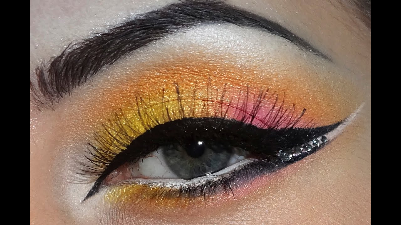 Yellow Pink Orange Makeup Youtube
