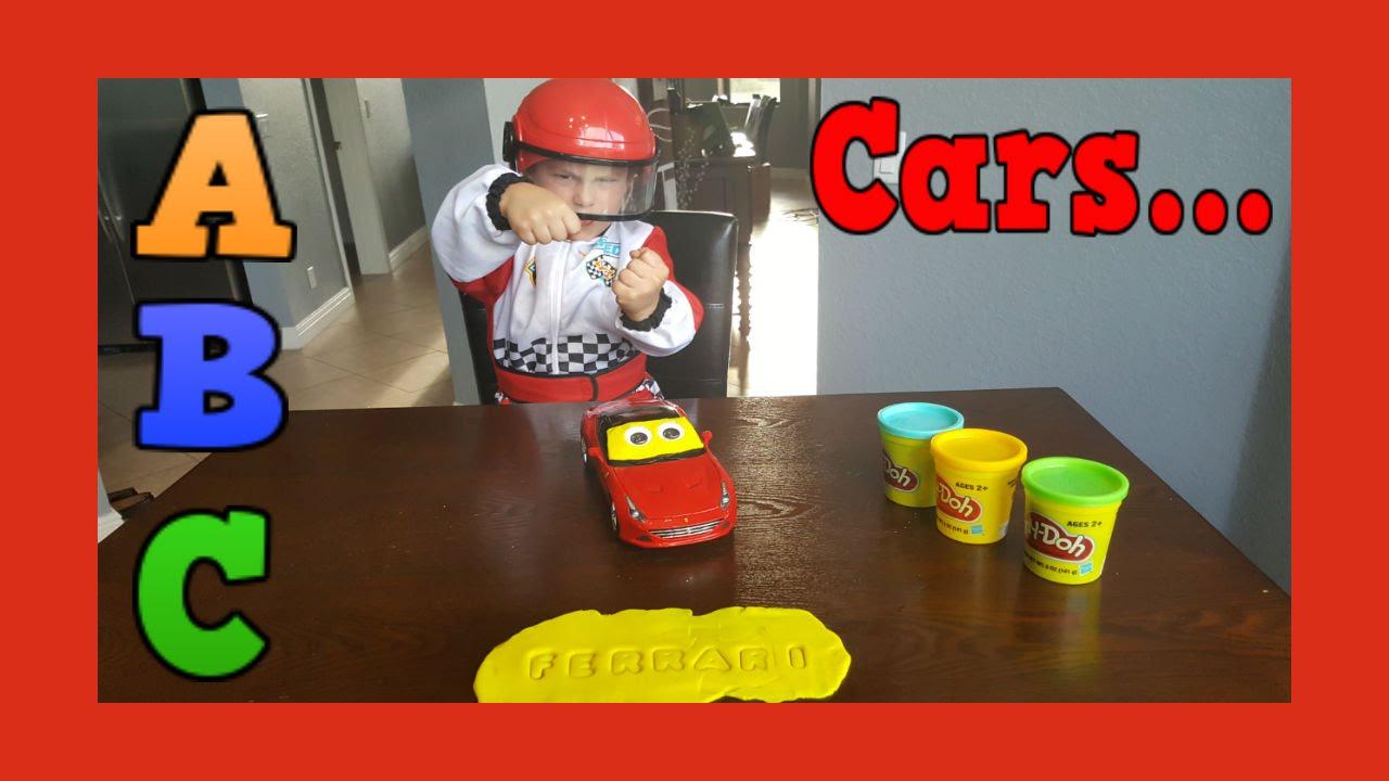 Learn Abc Alphabet With Cars Ferrari Spelling Fun Play Doh Youtube