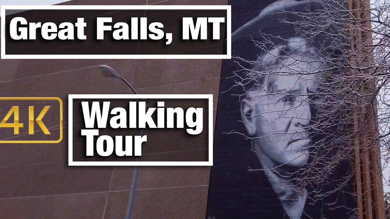 4K City Walks: Great Falls, MT Virtual Treadmill Walking Tour