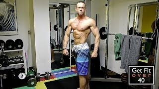 45 years old 6 foot 1 inch 193 pounds 5 6 body fat update video