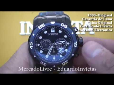 d42ded3ae91 Relógio Invicta 0076 Pro Diver Masculino Original + nf - YouTube