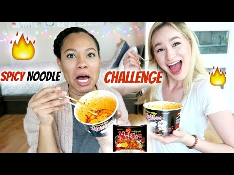 Spicy Noodle Challenge ft. Jessica Moy