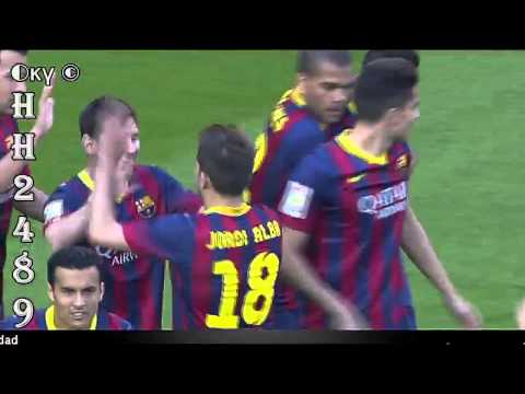 Leo MESSI GOAL [1-0] ~ Barcelona vs Osasuna 7-0 ~ Barcelona 7-0 Osasuna ~ Liga BBVA ~ 16-03-2014