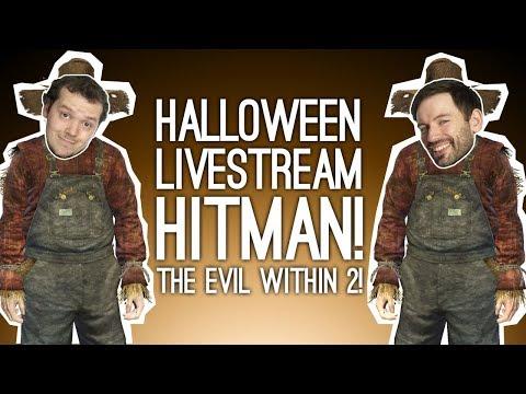 Halloween Livestream! 🎃 HITMAN! THE EVIL WITHIN 2! COSTUMES! 🎃