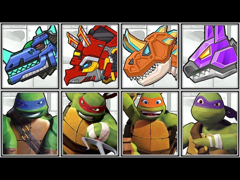 Dino Robot Corps + TMNT PortaL Power - Full Game Play - 1080 HD