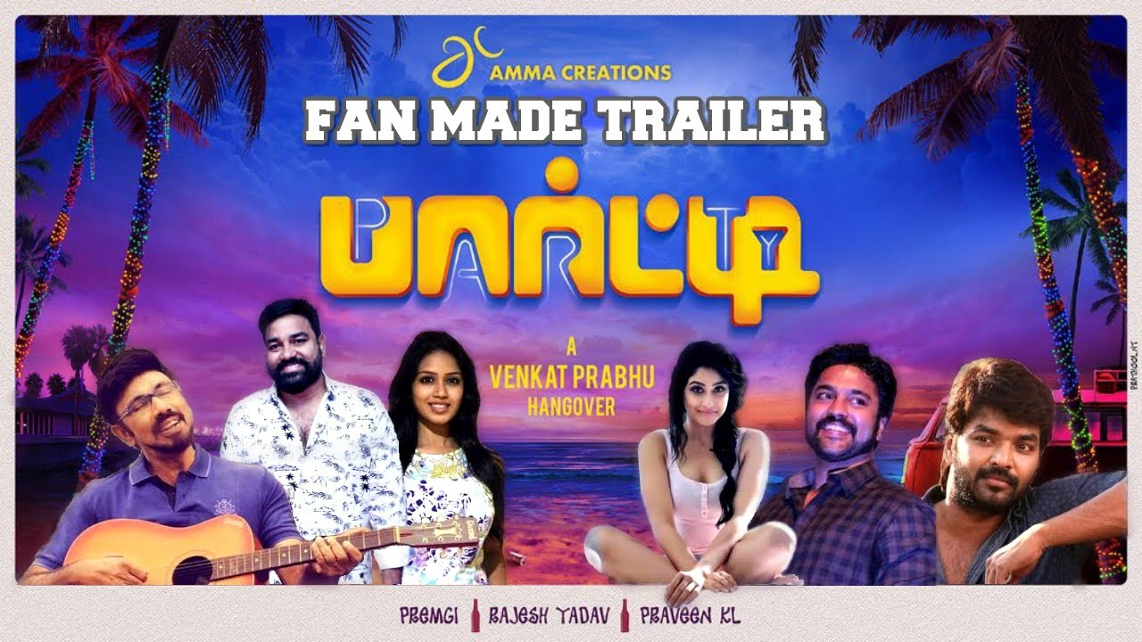 Party Tamil Movie Free Download HD DVDRip 720p 2018