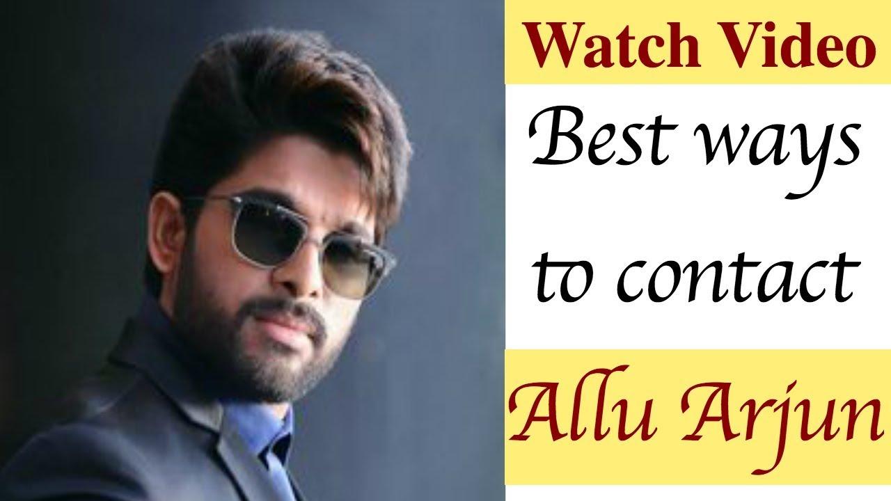 Allu Arjun Contact Address, Phone Number, Email ID, WhatsApp