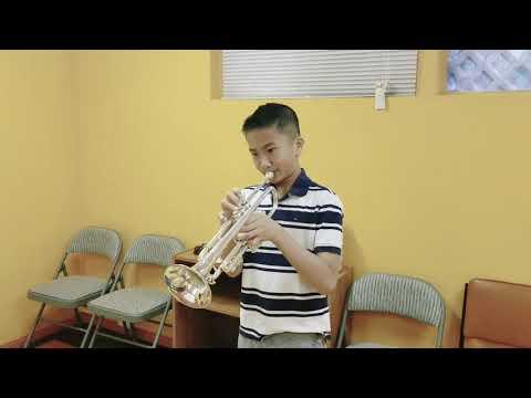 11-year-old Trumpeter Practices Some Lip Slurs