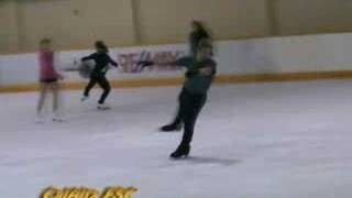 Triple Salchow Skating Jump, normal and slow motion
